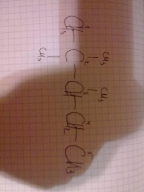 1)структурная формула 2 2 3- триметилпентан 2)определите число первичных, вторичных, третичных и чет