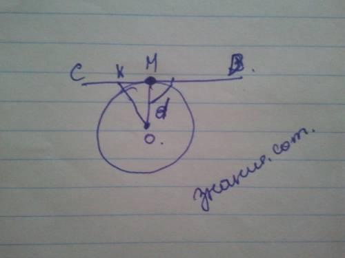 Докажите,что касательная к окружности перпендикулярна к радиусу этой окружности,проведенному в точку