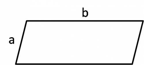 Нарисуйте параллелограмм, обозначьте длины его сторон буквами и составить формулу периметра параллел