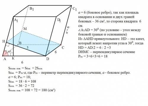 Взываю к в наклонном параллелепипеде основанием и одна из боковых граней - квадраты, плоскости котор