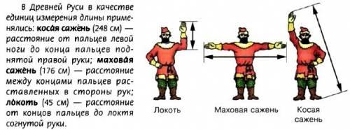 Выразите в метрах и сантиметрах: а) высоту терема,равную 3 косым сажениям; б) длину отреза полотна,р