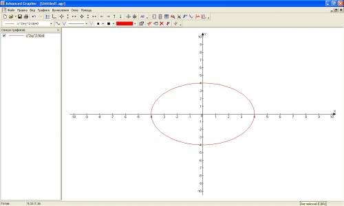 Построить график уравнений xв второй степени+y в второй степени=16