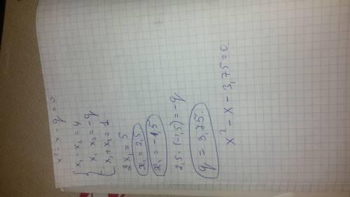 Люди,кто хорошо знает ? нужна ! буду ! разность корней квадратного уравнения x в квадрате - x - q =