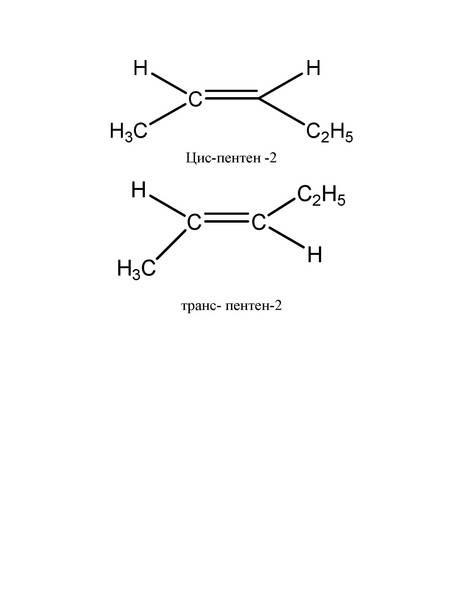 Составьте формулы одного гомолога и одного изомера к веществу цис-бутен-2.