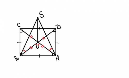 Диагонали квадрата авсд пересекаются в точке о .so перпендикуляр к плоскости квадрата.периметр квадр