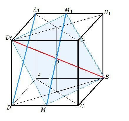 Дан куб с ребром равный 1. найти угол между прямыми da1 и bd1