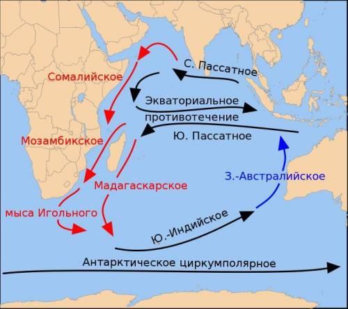 Особенности океанических течений индийского океана