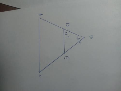 нарисуй треугольник abc и проведи ed ∥ ca. известно, что: d∈ab,e∈bc, ∢cba=81°, ∢edb=43° найди ∡