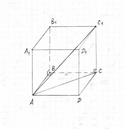 Вединичном кубе a…d1 найдите расстояние между вершиной a и: а) вершиной c1; б) ребром cc1; в) гранью