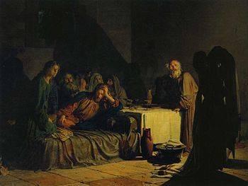 На каких картинах изображена тайная вечеря п .с . кроме тайная вечеря леонардо да винчи