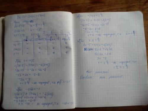 Решить уравнение с модулем методом интервалов ( чертить ничего не нужно, просто найти нули) |3x-5| +
