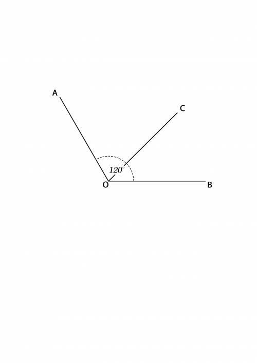 Между сторонами угла аов,равного 120 градусов,выбрана точка с.найдите угол аос и угол сов,если извес