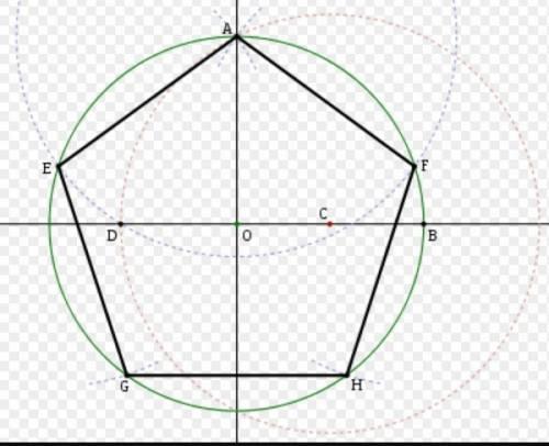 Начертите пятиугольник. через любые две его вершины проведите прямую a. начертите фигуру, симметричн