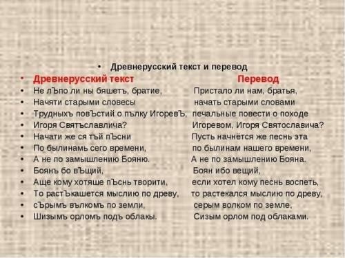 Мне нужен текст на старославянском языке с переводом на . заранее большое !