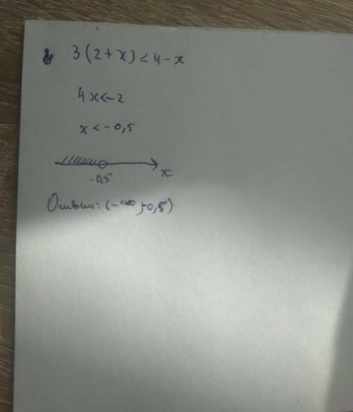 Решить неравенство,изобразить решение неравенства на числовой прямой и записать ответ с обозначений