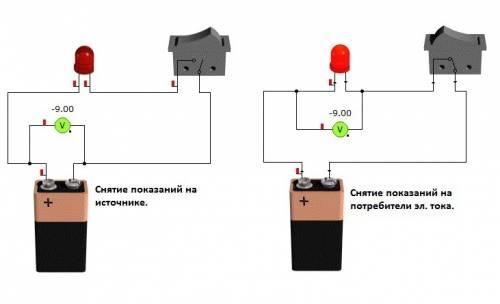 Определить показания вольтметра в схеме