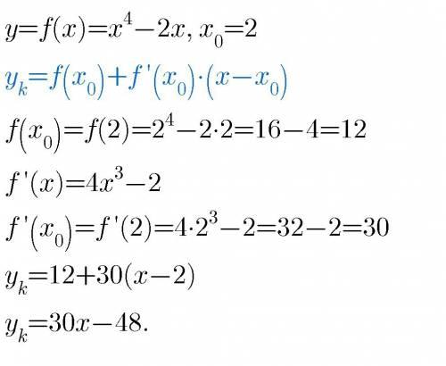Нужна ваша . написать уравнение касательной к графику функции y=f(x) в точке с абсциссой х0=1, если