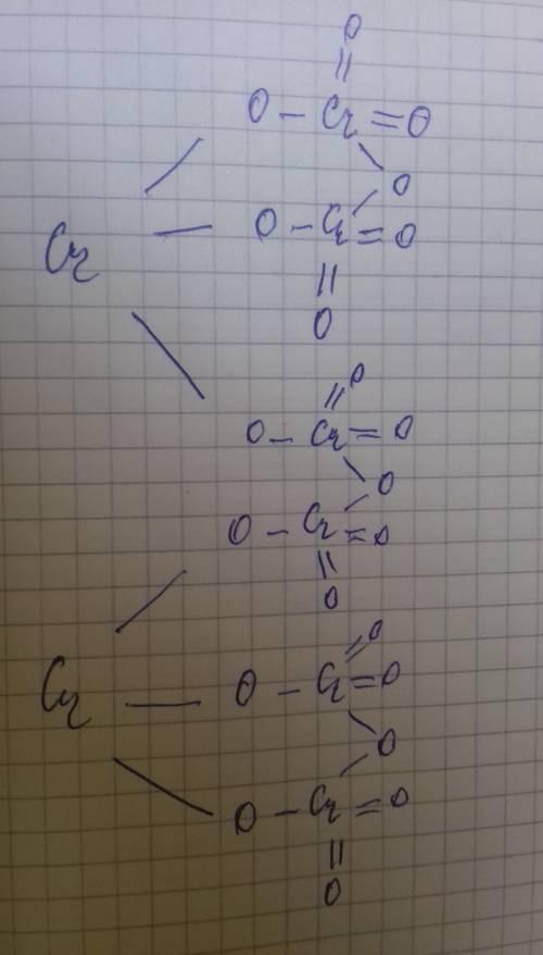 Сложно! нужно нарисовать структурную формулу cr2(cr2o7)3 я эту тему, вроде, знаю. рисовать умею стру