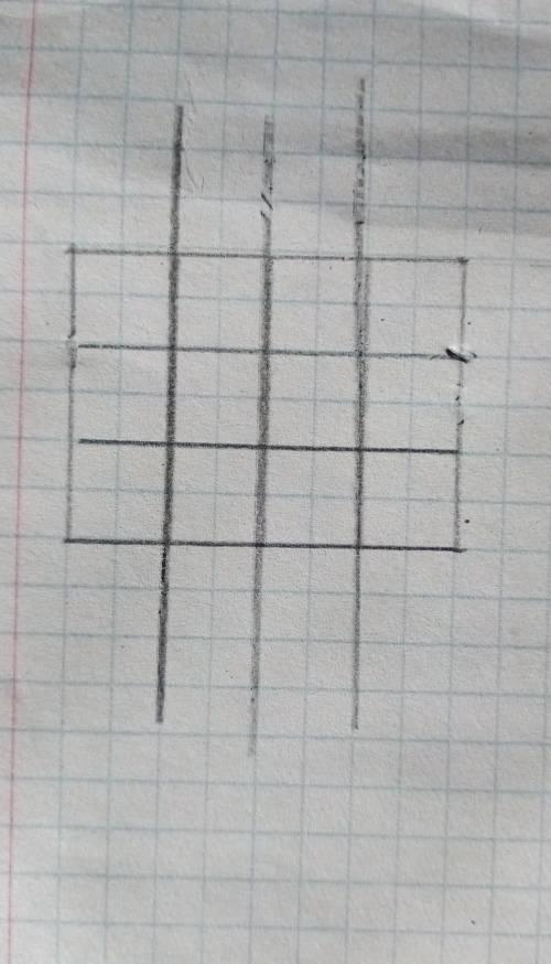 Фигура состоит из 12 равных квадратов.разделите фигуру на 4 равные части