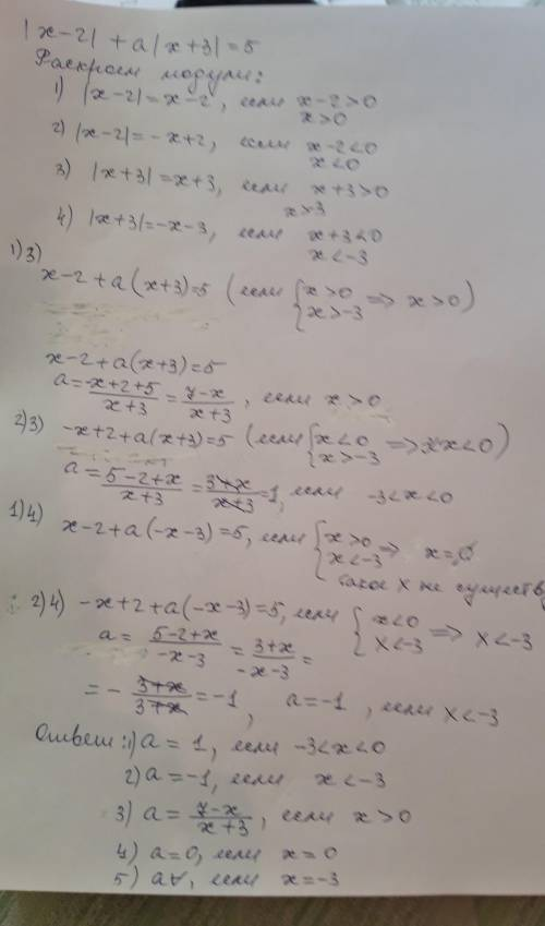 Спараметром. решить уравнение в зависимости от а