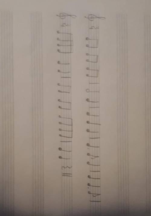 Сочинить 8 тактов ритма в размере 3/4