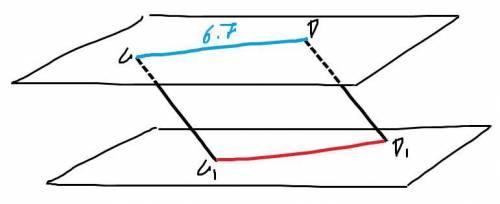 Даны две параллельные плоскости. через точки с и д одной из плоскостей проведены две параллельные пр