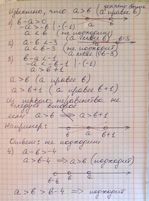 Какое из приведенных ниже неравенств является верным при любых значениях а и b, удовлетворяющих усло