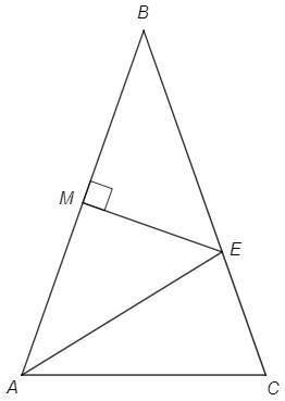 Серединный перпендикуляр к стороне АВ равнобедренного треугольника АВС (АВ = ВС) пересекает сторону