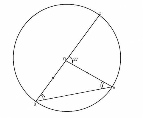 С объяснением(кратко)Отрезок BC – диаметр окружности с центром O. На окружности взяли точку A так, ч