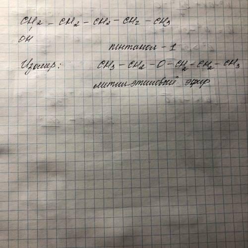 С5Н12О построить изомер и дать ему название