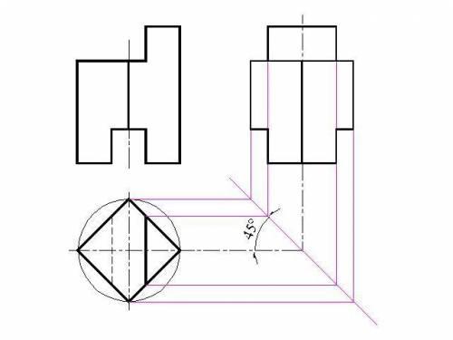 Задание: 1.По двум проекциям построить комплексный чертеж призмы, достроить горизонтальную проекцию