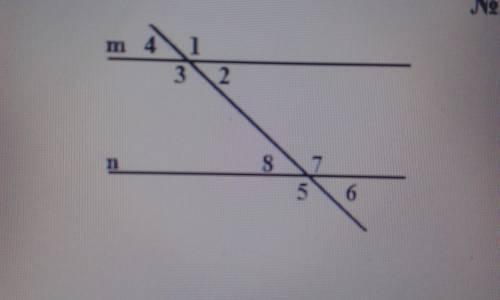 Дано: m    n угол 2 + угол 8 = 100° Найти: остальные углы