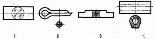 1.Судя по сечениям,определить, которое изделие изготовлено из наименее прочного материала 2.Которая