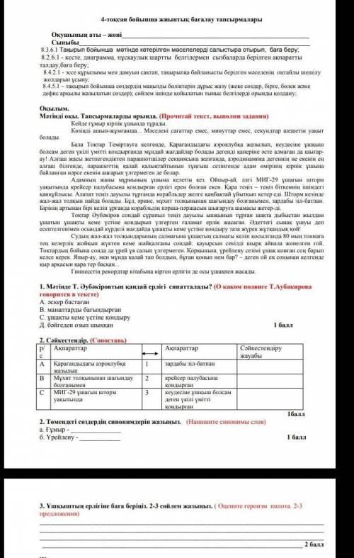 Эссе по казахскому