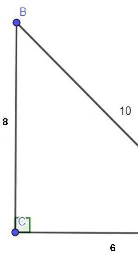 Обчисліть tg A.вариант ответа1) =3/42) =4/33) =0,64) =0,8