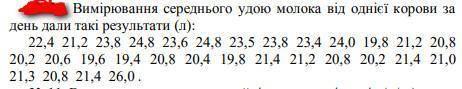 За даними вибірки побудувати інтервальний статистичний ряд розподілу, який складається з п'яти інтер