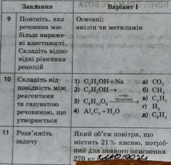 Самостоятельная с химии, 3 задания не могу выполнить.