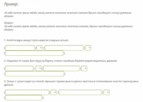 Впиши в схему [ ], (;) [ ], (;) [ ] данные предложения, выбери верные знаки препинания.