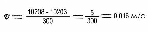 Определить скорость ветра, если первоначальные показания анемометра10203, показания анемометра посл