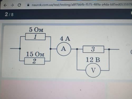 На рисунку дана схему дилянки електрычного кола.Скорыставшысь данымы рысунка,вызначте опир циеи дил