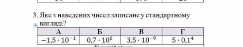 Яке з наведених чисел записане у стандартному вигляді? 