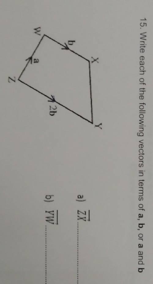 Выразите векторы ZX и YW через a, b или a и b 
